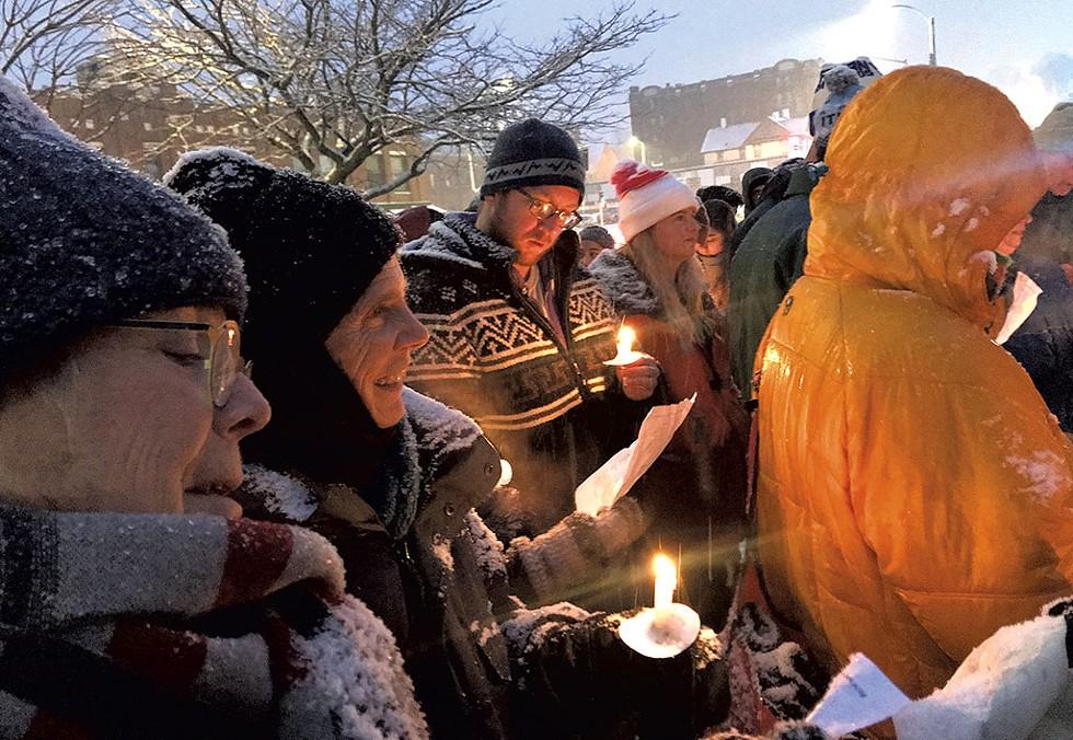 Sunrise Movement vigil - CHELSEA EDGAR