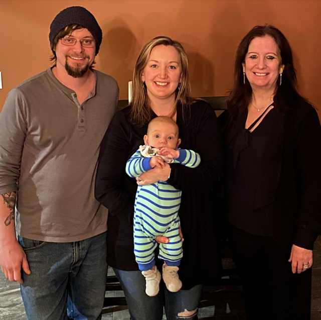 New owners of the Daily Planet, from left; Neil Solis, Rachel Solis (with 3-month-old Lyle) and Nicole Elithorpe. - COURTESY OF MIKAYLA ROBINSON