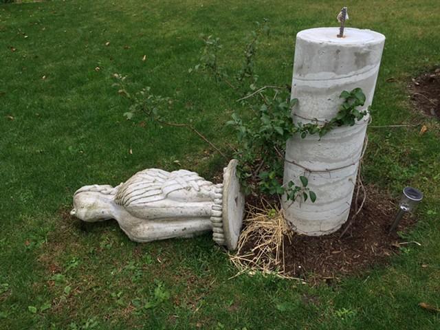 Vandalized sculpture - RACHEL ELIZABETH JONES