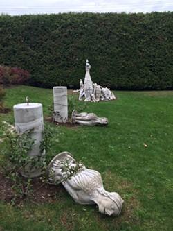 Vandalized sculptures - RACHEL ELIZABETH JONES