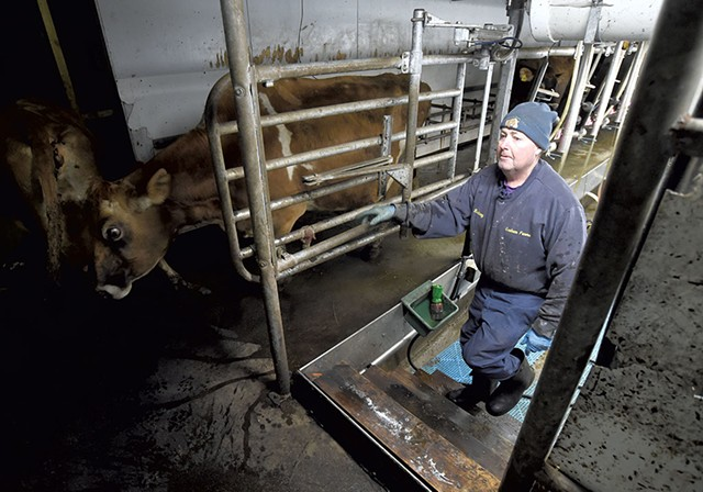 Rep. Rodney Graham at his dairy farm in Williamstown - JEB WALLACE-BRODEUR