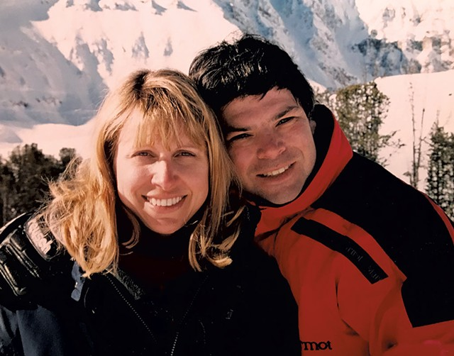 Randy Stern and his late wife, Annette Monachelli, on vacation in the 1990s - COURTESY OF RANDY STERN