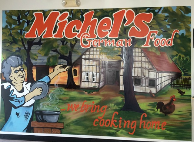 Michel's German Food: hand painted and home cooked - ALICE LEVITT