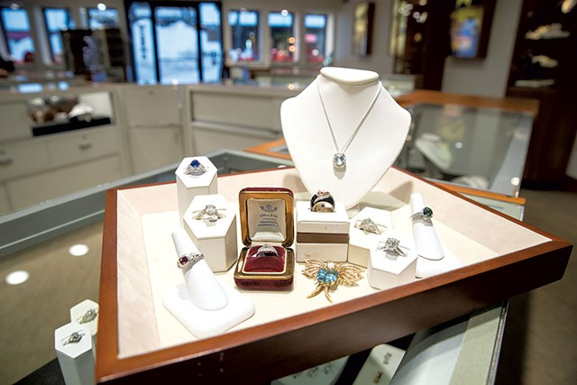 Display at Lippa's Estate and Fine Jewelry - JAMES BUCK