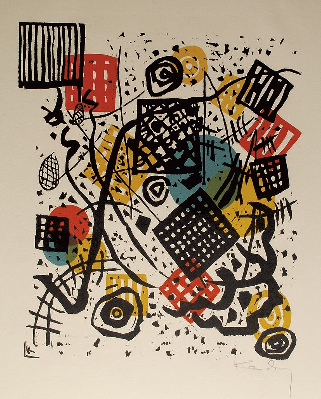 """Kleine Welten V"" by Wassily Kandinsky - COURTESY OF THE SABARSKY FOUNDATION"