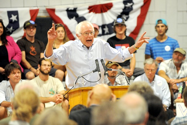 Sen. Bernie Sanders in New Hampshire - FILE: JAMIE GEMMITI