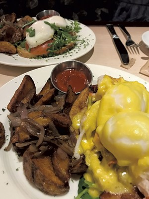 Lobster eggs Benedict at J. Morgan's Steakhouse - JEB WALLACE-BRODEUR