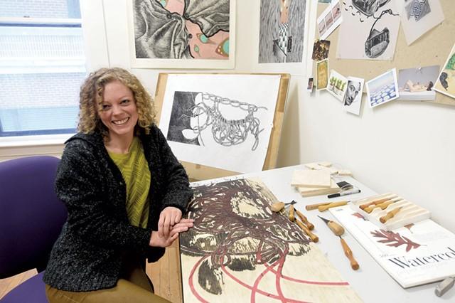 Autumn Tomlinson in her studio - JEB WALLACE-BRODEUR
