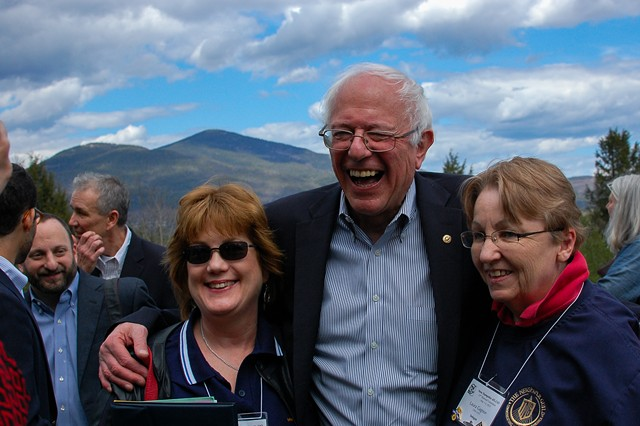 Sen. Bernie Sanders in New Hampshire in May - FILE: MORIAH HOUNSELL