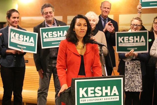 Rep. Kesha Ram launches her lieutenant gubernatorial campaign Monday in Burlington - PAUL HEINTZ