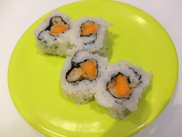 Tempura sweet potato roll, $3 - ALICE LEVITT