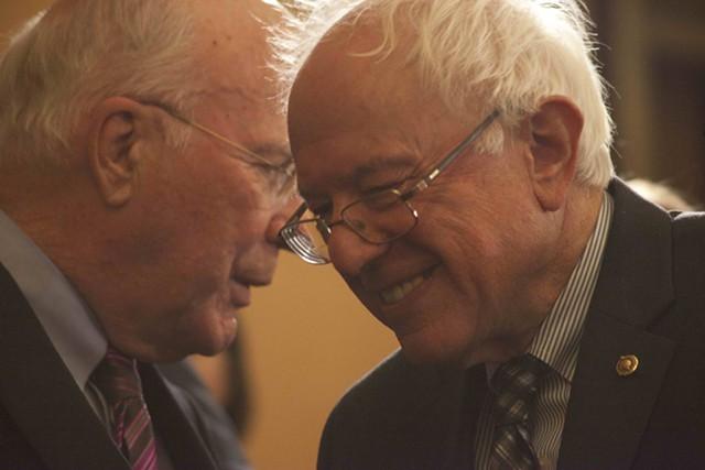 Sen. Patrick Leahy and Sen. Bernie Sanders - FILE: MATTHEW THORSEN