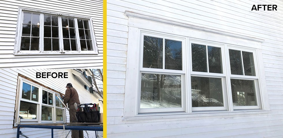 A wintertime installation in Woodstock, Vt. - WINDOWS & DOORS BY BROWNELL