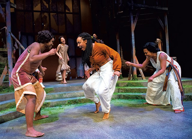 From left: Olivia Williams, Stella Asa, Monique St. Cyr, Stephanie Everett and Lakeisha Coffey - COURTESY OF KATA SASVARI