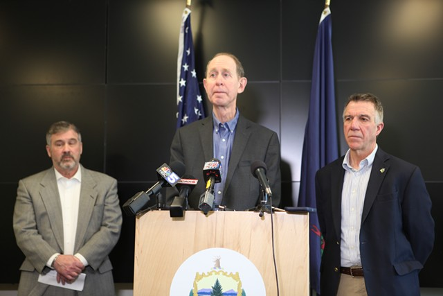 Vermont Health Commissioner Mark Levine speaking Sunday - KEVIN MCCALLUM