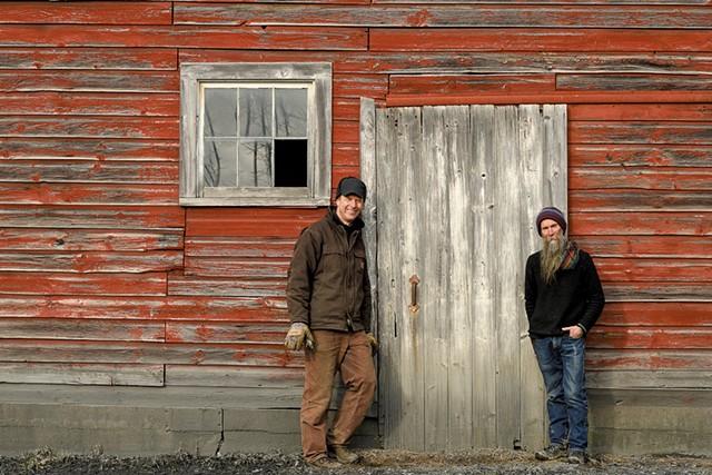 Bill Suhr (left) and Zeke Goodband at Champlain Orchards - CALEB KENNA