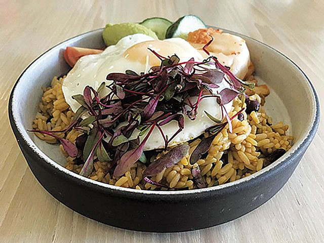 Rice bowl at Vergennes Laundry by CK - FILE: SALLY POLLAK