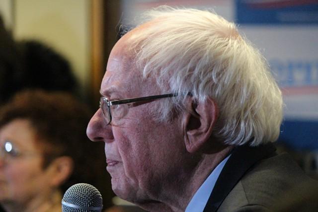 Sen. Bernie Sanders campaigning last month in New Hampshire - FILE: PAUL HEINTZ