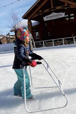 Elise uses a skate trainer for balance - TRISTAN VON DUNTZ