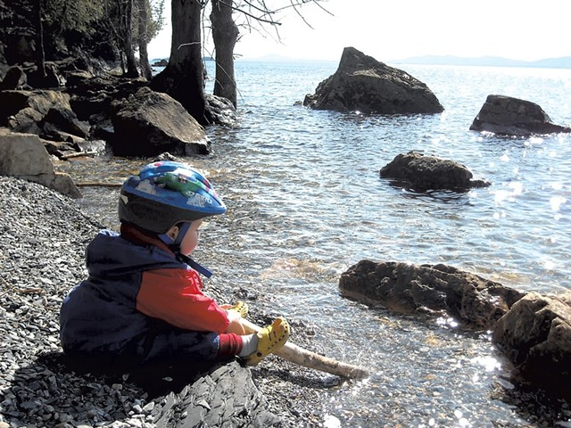 Heather's son, Jesse, at Rock Point in 2010 - BEN WANG