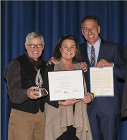 Sparky and Peggy Potter with Gov. Peter Shumlin - COURTESY OF VAC/PETER ARTHUR WEYRAUCH