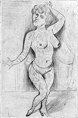 """Maud Arizona (Suleika, the Tattooed Wonder)"" by Otto Dix"