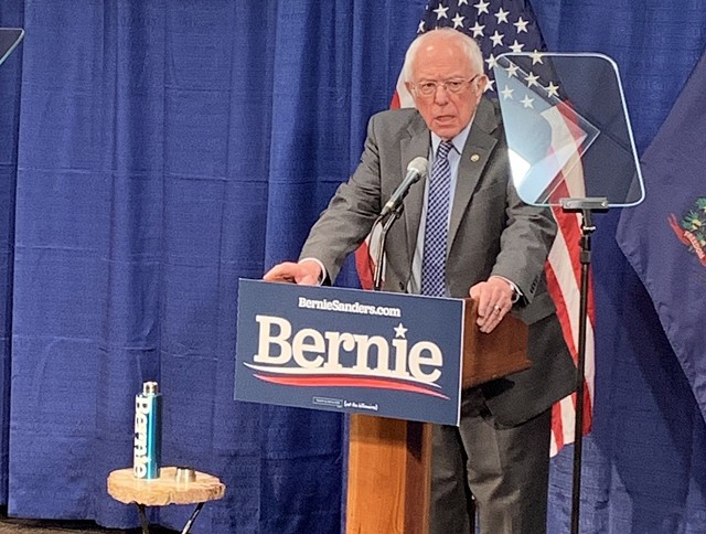 Sen. Bernie Sanders (I-Vt.) on Friday - DEREK BROUWER