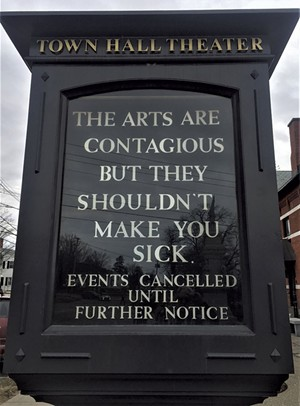 Town Hall Theater marquee in Middlebury - COURTESY OF LISA MITCHELL