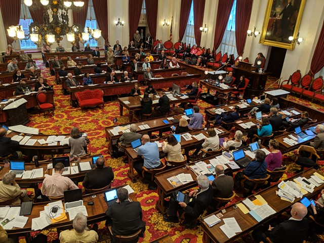 The Vermont House of Representatives - FILE: TAYLOR DOBBS