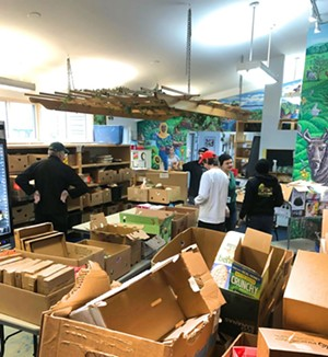 The Feeding Chittenden food distribution area Monday - COURTESY OF LINNIE TRIMMER
