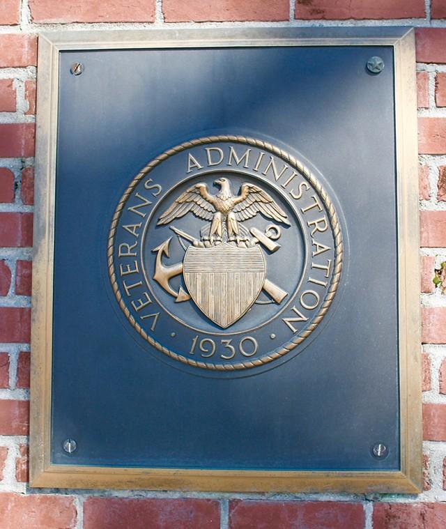 A Veterans Administration seal - CALVIN L. LEAKE | DREAMSTIME.COM