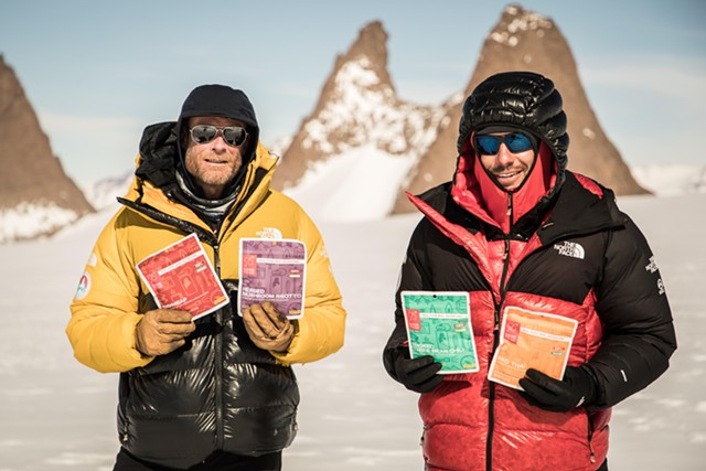Alex Honnold and Conrad Anker with Good To-Go dehydrated meals - COURTESY OF PABLO DURANA
