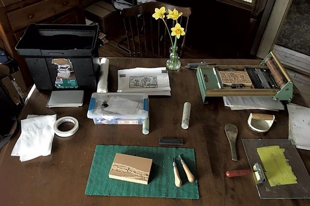 Phillip Robertson's home workstation - COURTESY PHOTO