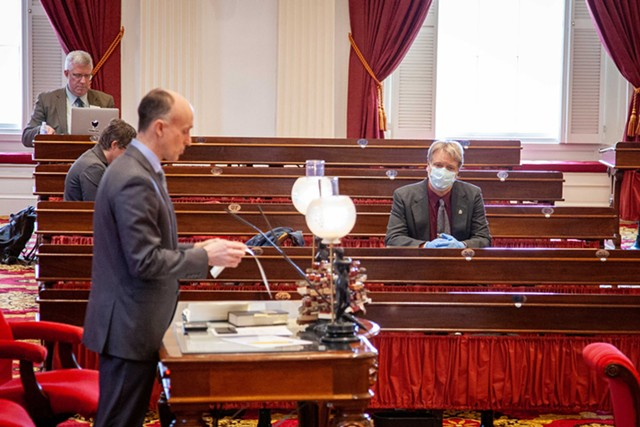 Inside the House chamber Wednesday - KEVIN MCCALLUM