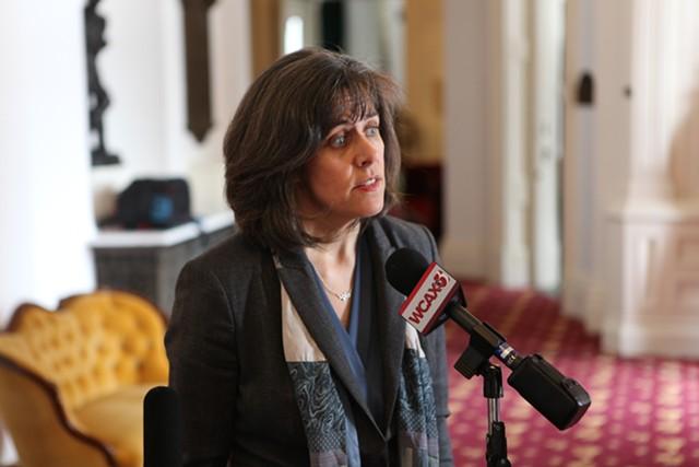 House Speaker Mitzi Johnson on Wednesday - KEVIN MCCALLUM