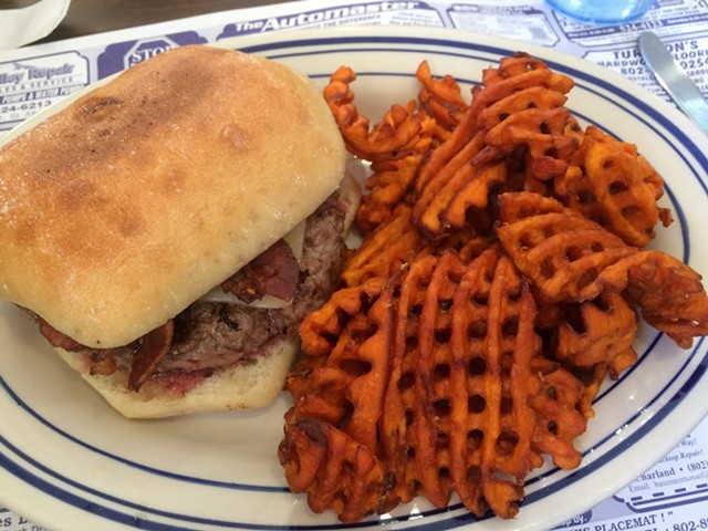 Franklin County burger, $7.99 - ALICE LEVITT