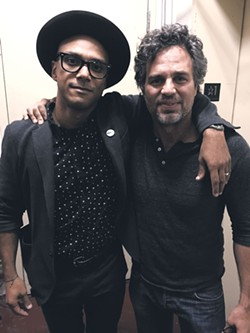 Luis Calderin with Mark Ruffalo - COURTESY OF LUIS CALDERIN