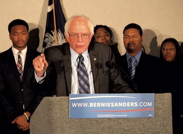 Sen. Bernie Sanders in Columbia, S.C. - PAUL HEINTZ