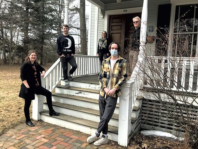 Clockwise from lower left: Grace Ross, Jackson Harvey, Lyn Severance, Bill Harvey and Henry Severance - CHELSEA EDGAR