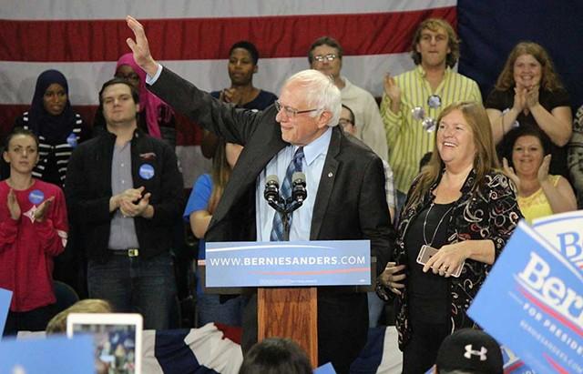 Sen. Bernie Sanders at a town hall meeting in Aiken, S.C. - PAUL HEINTZ