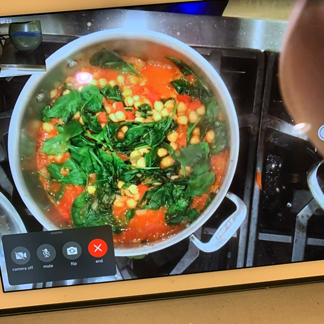 Cooking curry together over FaceTime - MELISSA PASANEN