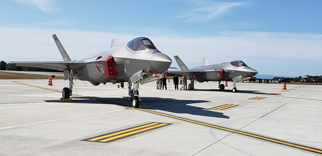 Two F-35s - FILE: KEVIN MCCALLUM