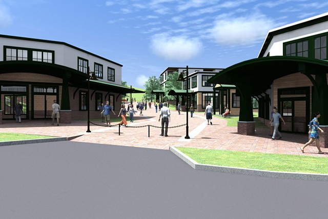 A rendering of the proposed Quechee Highlands project - COURTESY GRAPHIC