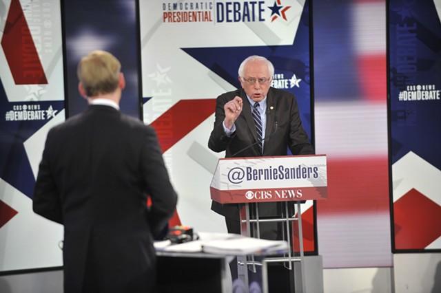 John Dickerson and Sen. Bernie Sanders - CHRIS USHER/CBS © 2015 CBS TELEVISION NETWORK
