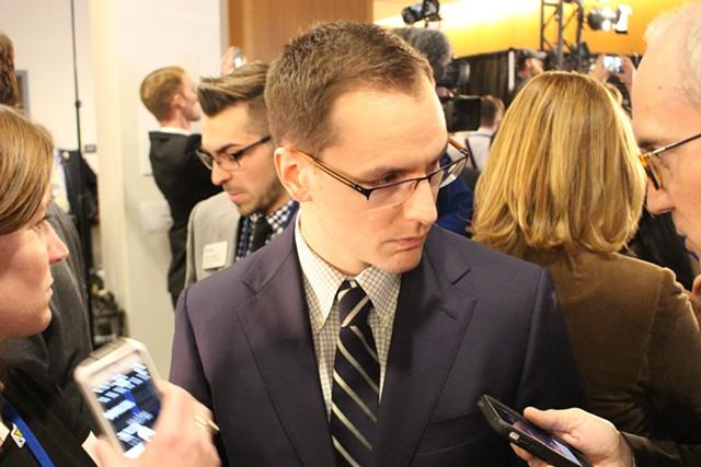 Clinton campaign manager Robby Mook - PAUL HEINTZ