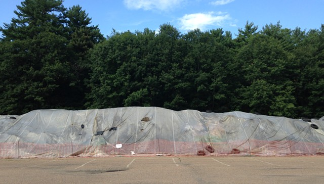 The dirt pile in the Leddy Arena parking lot - FILE: MOLLY WALSH