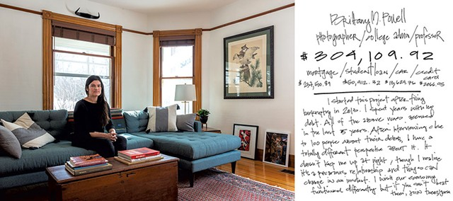 "Self-portrait, ""Debt Portrait #99, Middlesex, VT 2020"" - BRITTANY POWELL"