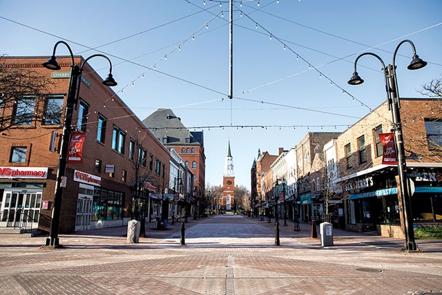Burlington's Church Street on a Sunday afternoon in March - FILE: LUKE AWTRY