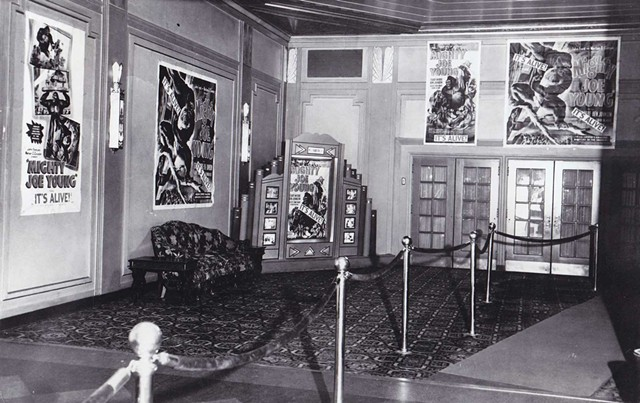 """The Flynn lobby in 1949 promoting an animal act, """"Mighty Joe Young"""" - COURTESY OF THE FLYNN CENTER"""