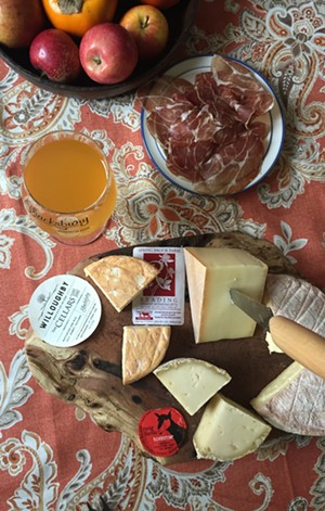 A Vermont cheese plate - JORDAN BARRY